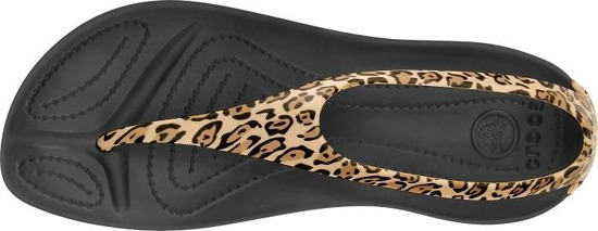 CROCS SEXI WILD FLIP BLACK/GOLD 15539