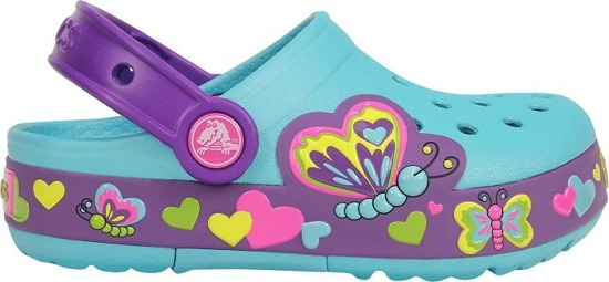 CROCS SHOES FLIP-FLOPS CROCS LIGHTS BUTTERFLY 15685Aqua/Ne