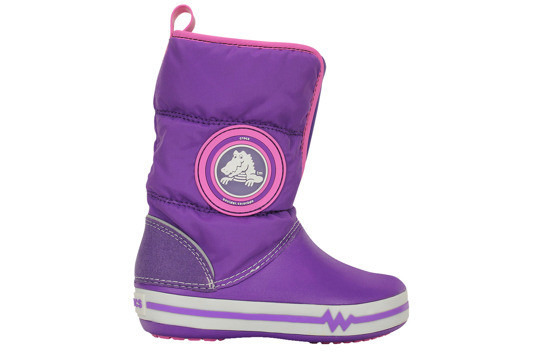 CROCS SHOES SNOW BOOTS CROCBAND LIGHTS 15811 purple