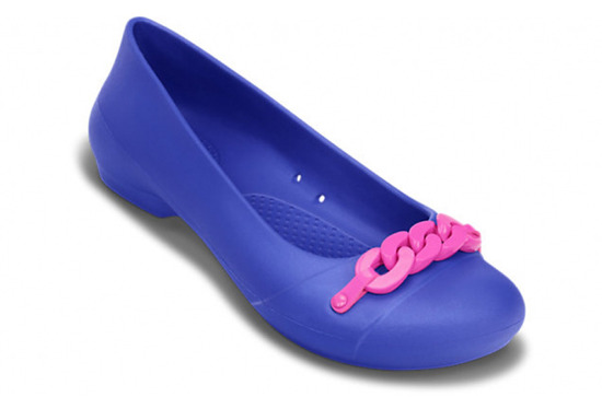 WOMEN'S SHOES BALLERINA CROCS GIANNA LINK FLAT 14574  BLUE