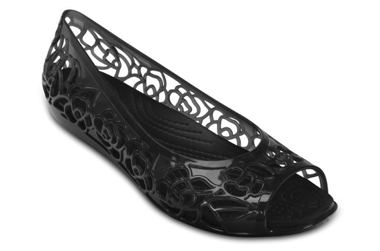 WOMEN'S SHOES CROCS ISABELLA JELLY FLAT 203285 BLACK