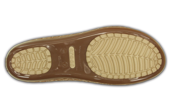 WOMEN'S SHOES CROCS ISABELLA JELLY FLAT 203285 BRONZE