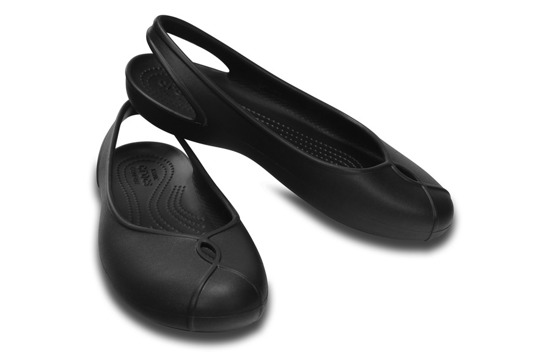 WOMEN'S SHOES CROCS OLIVIA II FLAT 202826 BLACK