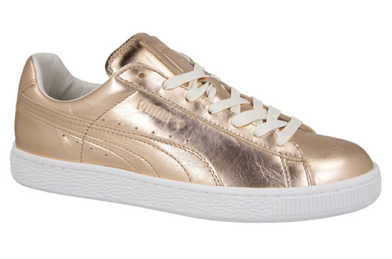 WOMEN'S SHOES PUMA BASKET METALLIC 362057 01