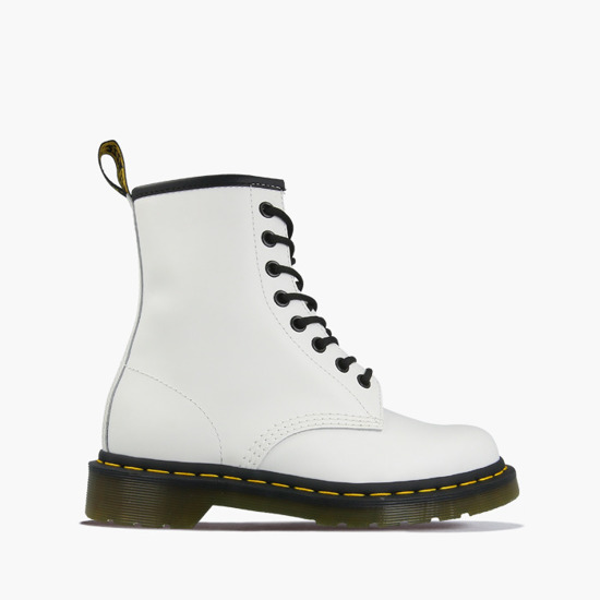 WOMEN'S SHOES SNEAKERS DR.MARTENS 1460 WHITE SMOOTH