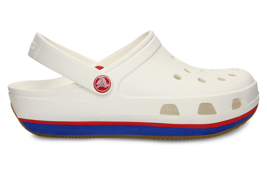 14001 WHITE  CROCS RETRO CLOG