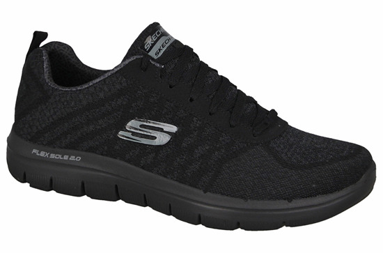 DAMEN SCHUHE SKECHERS FLEX ADVANTAGE 52182 BBK
