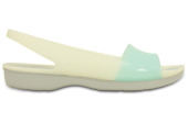 KLAPKI CROCS COLOR BLOCK FLAT 200032 SEA FOAM