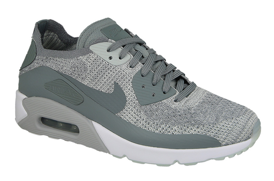 Nike Air Max 90 Ultra 2.0 Flyknit Men's Shoe Atmosphere GreyGunsmokeLight Bone 875943 007