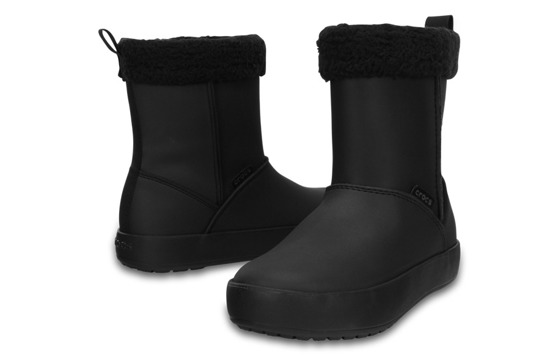 CHILDREN'S SHOES SNOW BOOTS CROCS COLORLITE 15839 BLACK