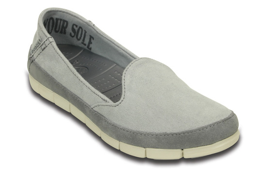 WOMEN'S SHOES CROCS STRETCH SOLE SUEDE SKIMMER 201741