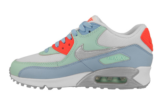 WOMEN'S SHOES NIKE AIR MAX 90 MESH (GS) 724855 100