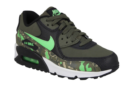 WOMEN'S SHOES  NIKE AIR MAX 90 PREMIUM LTHR (GS) 724879 003