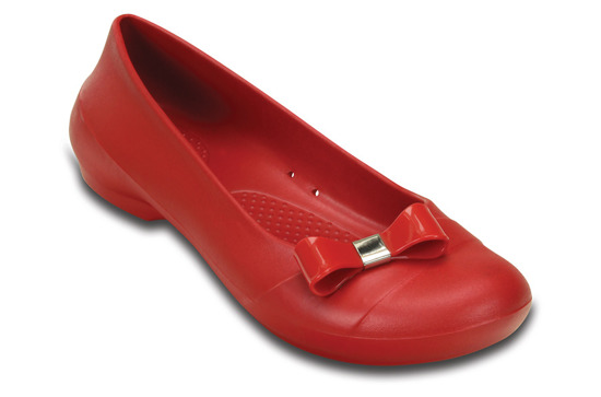DAMEN SCHUHE BALLERINA CROCS GIANNA SIMPLE 200871 ROT