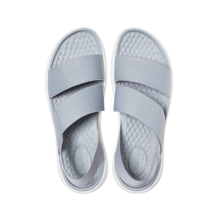 Sandały Crocs LiteRide Stretch Sandal W 206081 LIGHT GREYWHITE