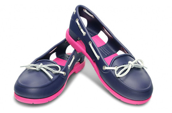 MOKASYNY CROCS LINE BOAT SHOE WOMEN 14261 NAVY
