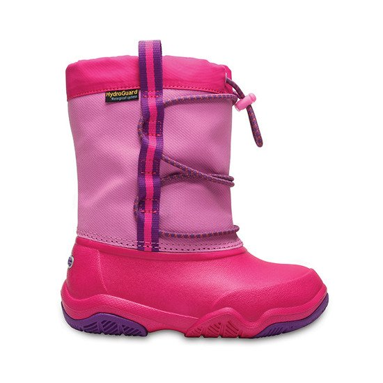 śNIEGOWCE CROCS SWIFTWATER 204657 PARTY PINK